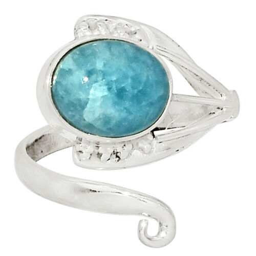 Aquamarine Brazil 925 Sterling Silver Ring Jewelry s.6.5 33890R
