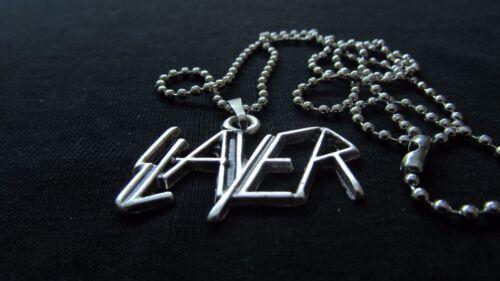 Slayer Collier 925 Plaqué Argent