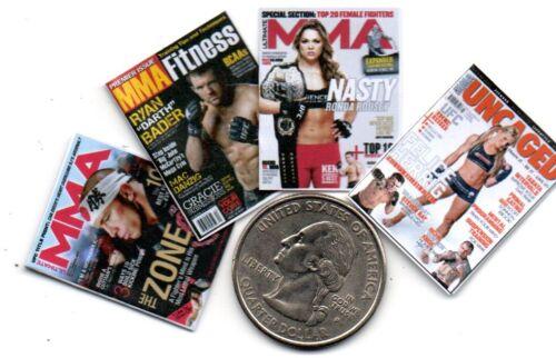 4 Mini  /'MMA/'  /'Mixed Martial Arts/'   Magazines    Dollshouse 1:12 scale OPENING