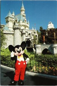 Disneyland-Mickey-Mouse-Sleeping-Beauty-Castle-Fantasyland-Disney-Postcard-F20