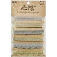 Metallic Trimmings Gold And Silver Ribbon (6 Yards Total); Tim Holtz Idea-ology