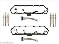 1998-03 Ford 7.3l Powerstroke Valve Cover Gaskets With Harness & Glow Plug Set