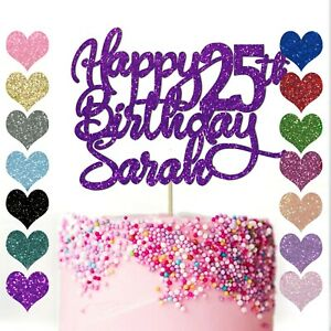 Personalised-Cake-Topper-Custom-Any-Age-Name-Happy-Birthday-Party-Glitter