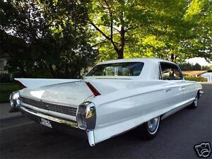 1962 Cadillac Fleetwood, WHITE, Refrigerator Magnet 40 Mil ...