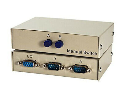 Printer 4Ports Manual Parallel DB9 Serial RS232 Data Sharing Switch Case
