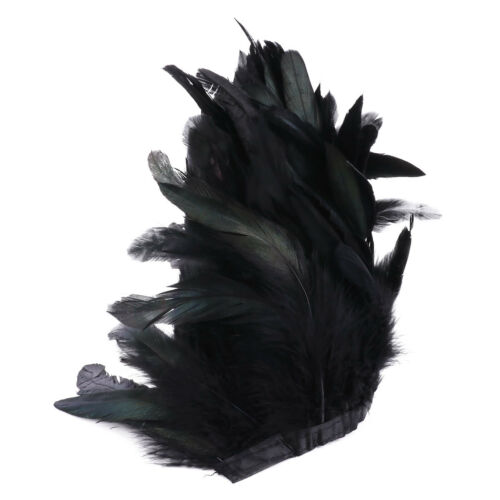"""Rooster Hackle Feather Fringe Trim 6-8/"""" in Width 5.5 Yards Sewing Craft Costume"""
