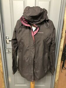 Ladies-Size-16-Waterproof-Sprayway-Brown-And-Pink-Coat