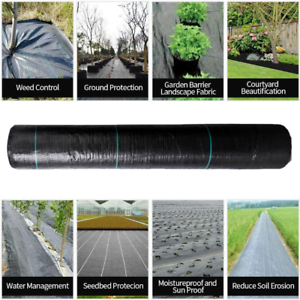 Heavy Duty Lined Weed Control Fabric Landscaping Ground Cover Membrane Mulch New