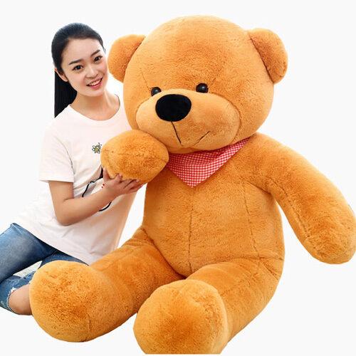 2018 Lovely teddy bear peluche giocattoli regalo bambini peluche xsmas Cuscino Morbido Grande Bambole