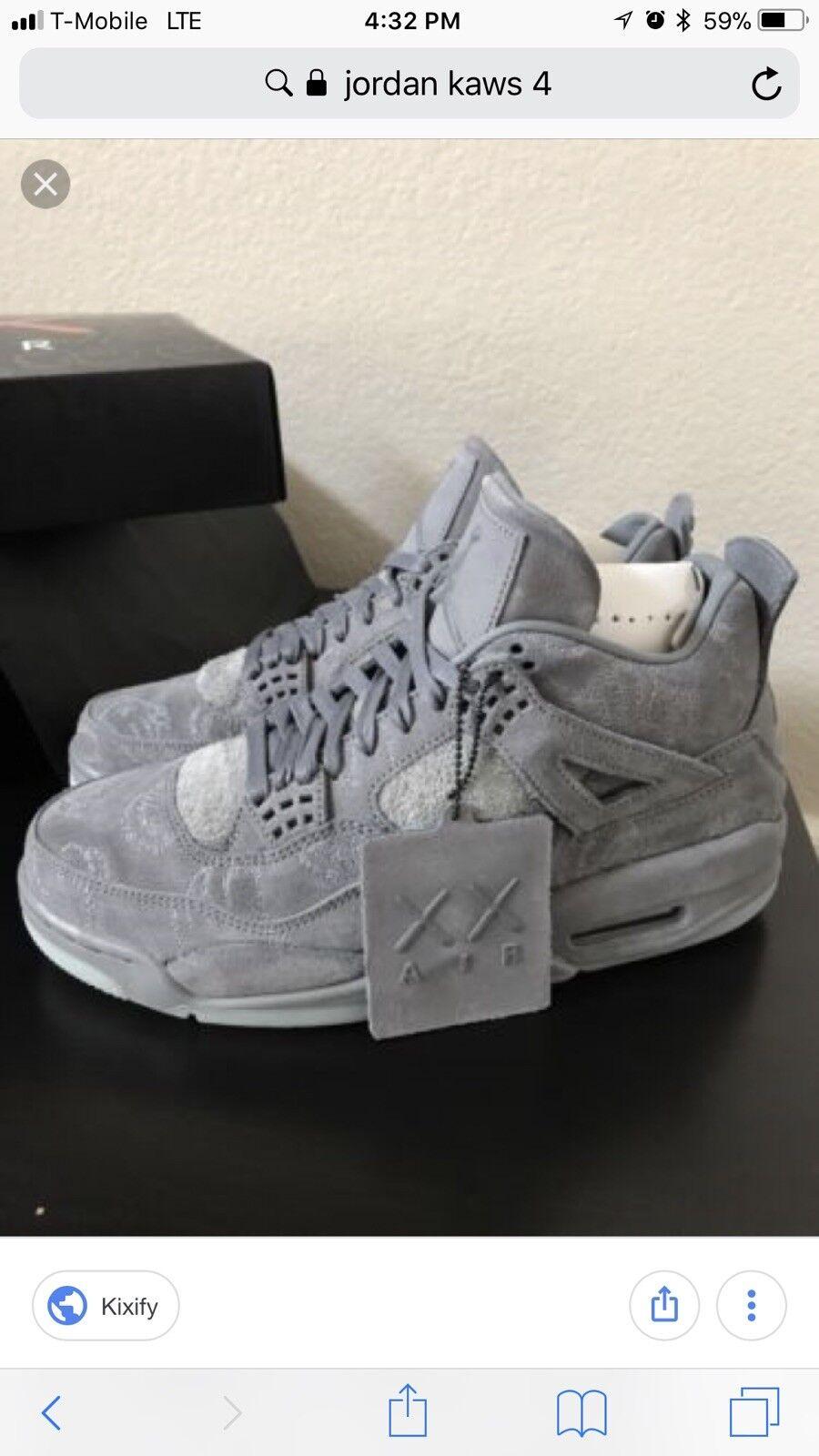 Nike Air Jordan Retro 4 x Kaws Cool Grey Comfortable Special limited time