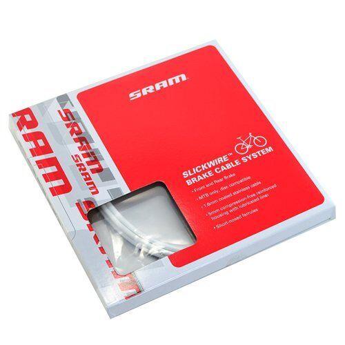 White SRAM SlickWire MTB Brake Cable /& Housing Kit 5mm