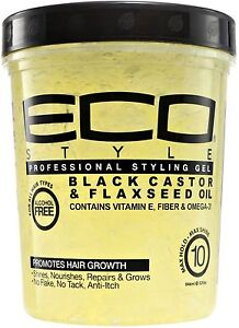ECO-Styler-Black-Castor-Flaxseed-Oil-Gel-32-oz-Pack-of-2