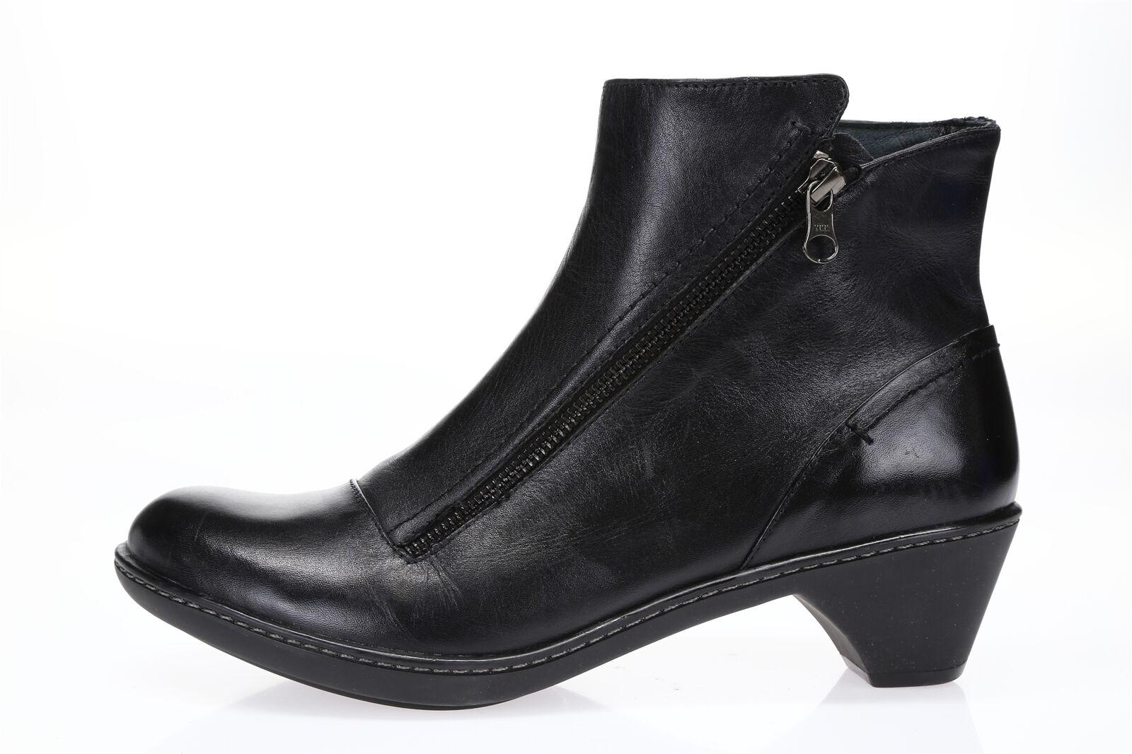 DANSKO Womens Black Leather Sz 40 Urban Ankle Boots 220323