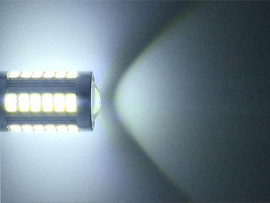 UNA Coppia Lampade Lampadine Luce LED BAY15D 1157 P21W 33 Smd 5730 BIANCO 6000K