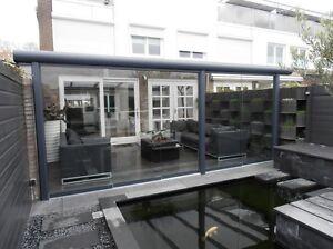 Glasschiebewand Glasschiebetüren Terrassenüberdachung Terrassendach Pergola