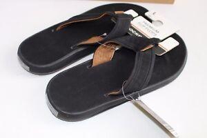 Premium Flip Flops Dockers Black Size XL 11-12 Sandals NEW NWT