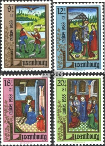 Luxemburg 12101213 kompl.Ausg. unmounted mint never hinged 1988 Caritas