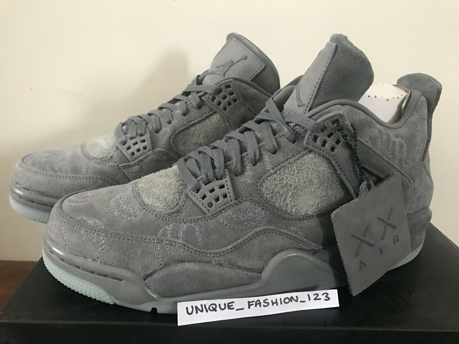 NIKE AIR JORDAN RETRO 4 IV KAWS COMPANION AJ4 COOL GREY