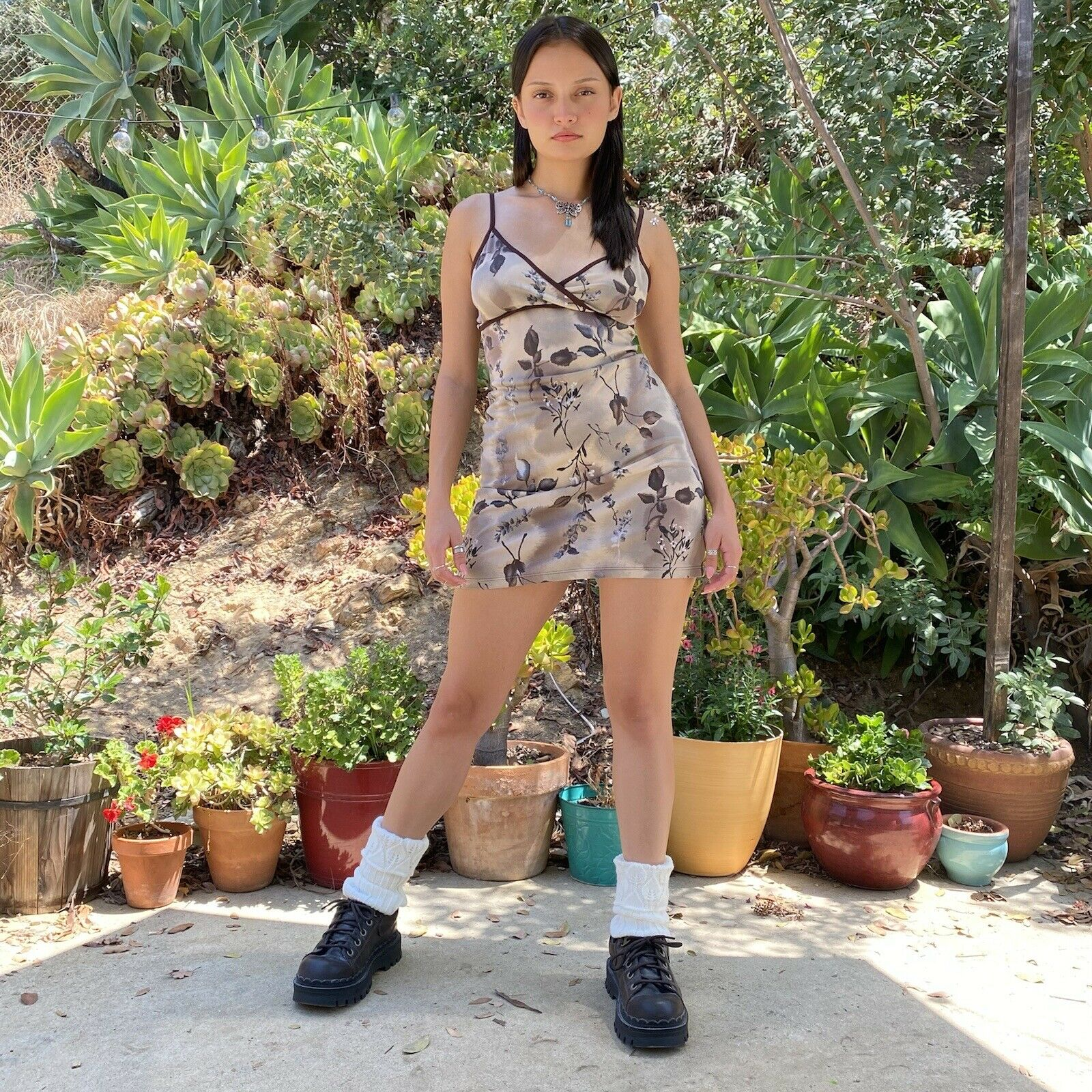 Vintage 90s Forever21 Chocolate Brown Spaghetti S… - image 2
