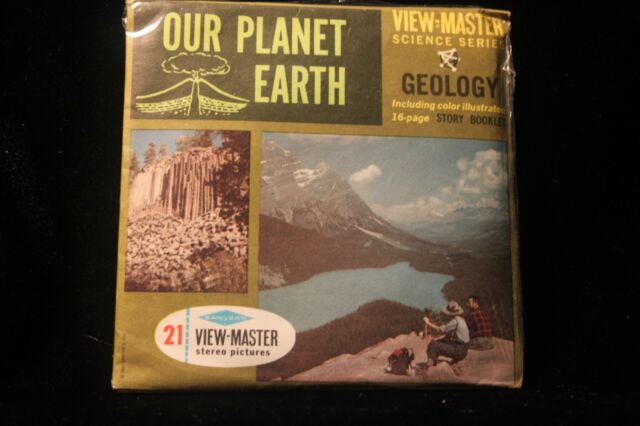 Our Planet Earth - Geology Viewmaster 1960's w/3 Reels & Booklet EXCELLENT