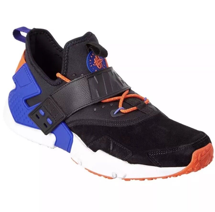 MEN'S NIKE AIR HUARACHE DRIFT PRM RUNNING SHOE BLACK blueE AH7335 002 Size 10.5