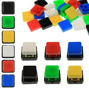 A14-Tactile-Cap-amp-Switch-Momentary-Button-Square-Flat-Keycap-6-Colours