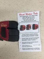 Wilson Black Widow Leather Split Finger Shooting Tab Left Hand Large