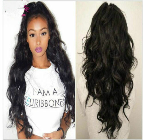 Glueless Lace Front wigs full lace wigs Human Hair natural wavy