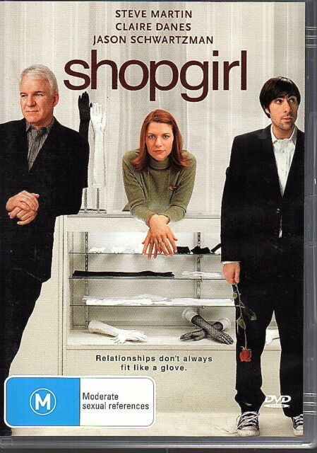 SHOPGIRL - DVD R4 Steve Martin Claire Danes LIKE NEW FREE POST