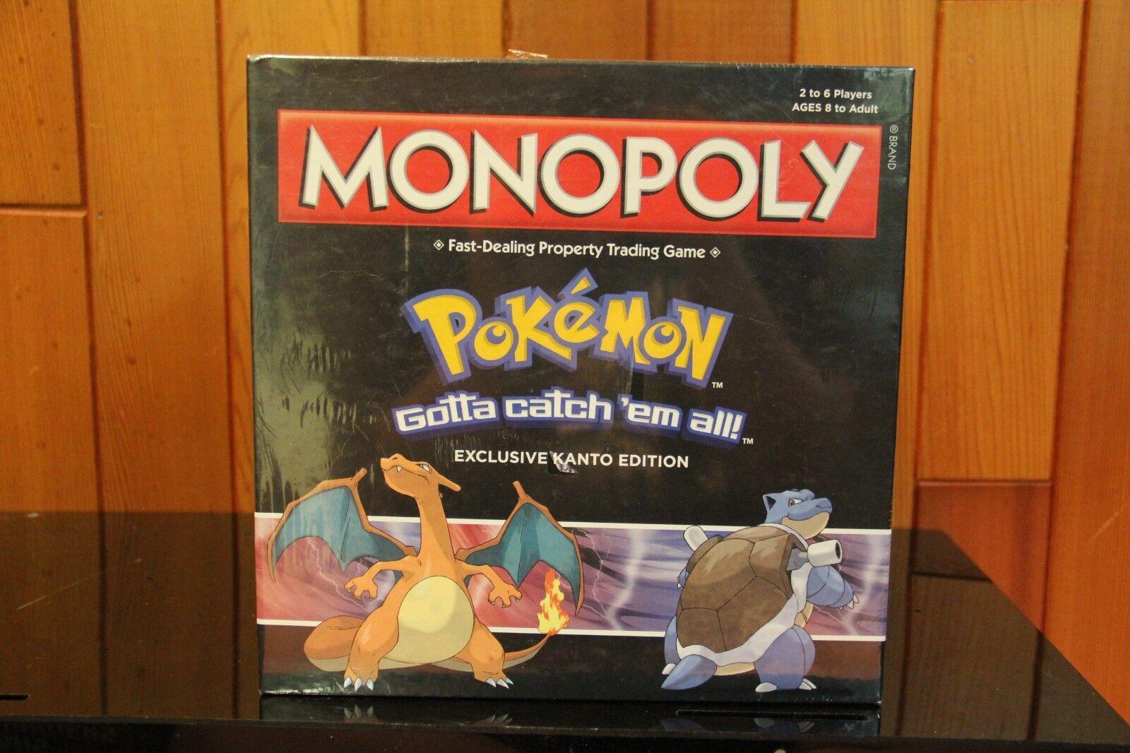 Hasbro Monopolio Pokemon Kanto Edición Gamestop exclusivo 4 fichas Extra