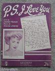 Dawn Lake P.S. I Love You Rare OZ 50s Sheet Music OST (Bobby Limb) Free Post