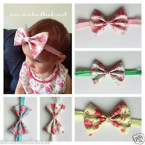 Vintage Fabric band Baby Girl Headbands Cath Kidston Newborn Toddler Lot