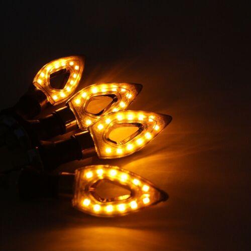 4x LED Turn Signals Light Amber For Suzuki Katana GSX GSXR 600 750 1100 GSXR1300