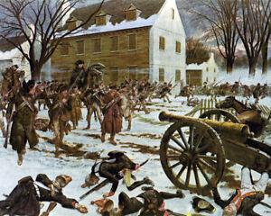 American Revolution George Washington Trenton Battle Painting Canvas Art Print
