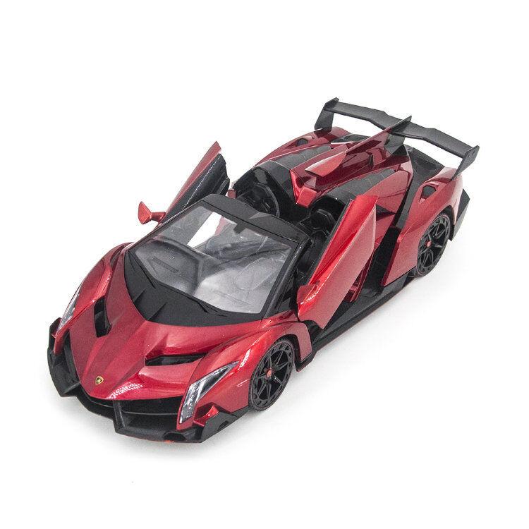 RC Lamborghini Veneno Cabrio rosso Sport Racing Car Radio Remote Control 1/14