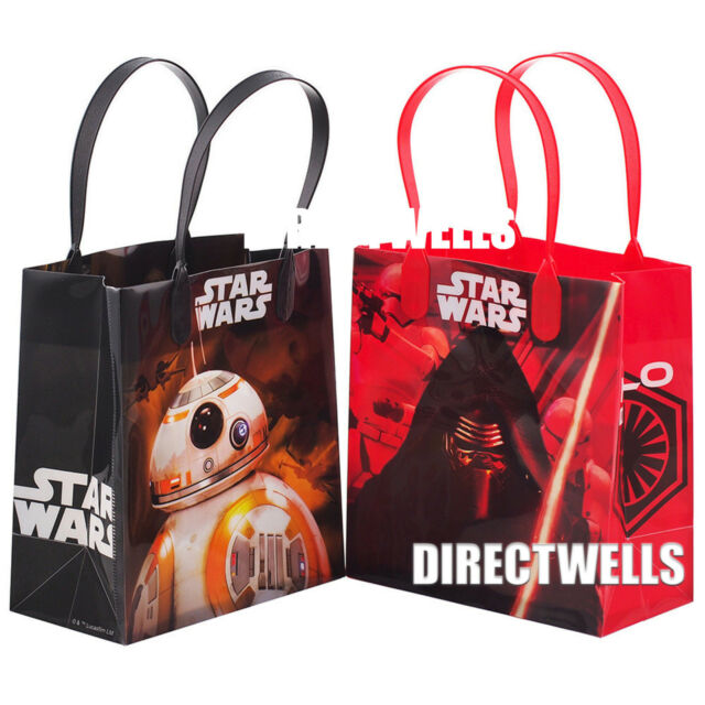Star Wars Authentic Licensed Reusable 6 Small Party Favor Goodie Gift Bags
