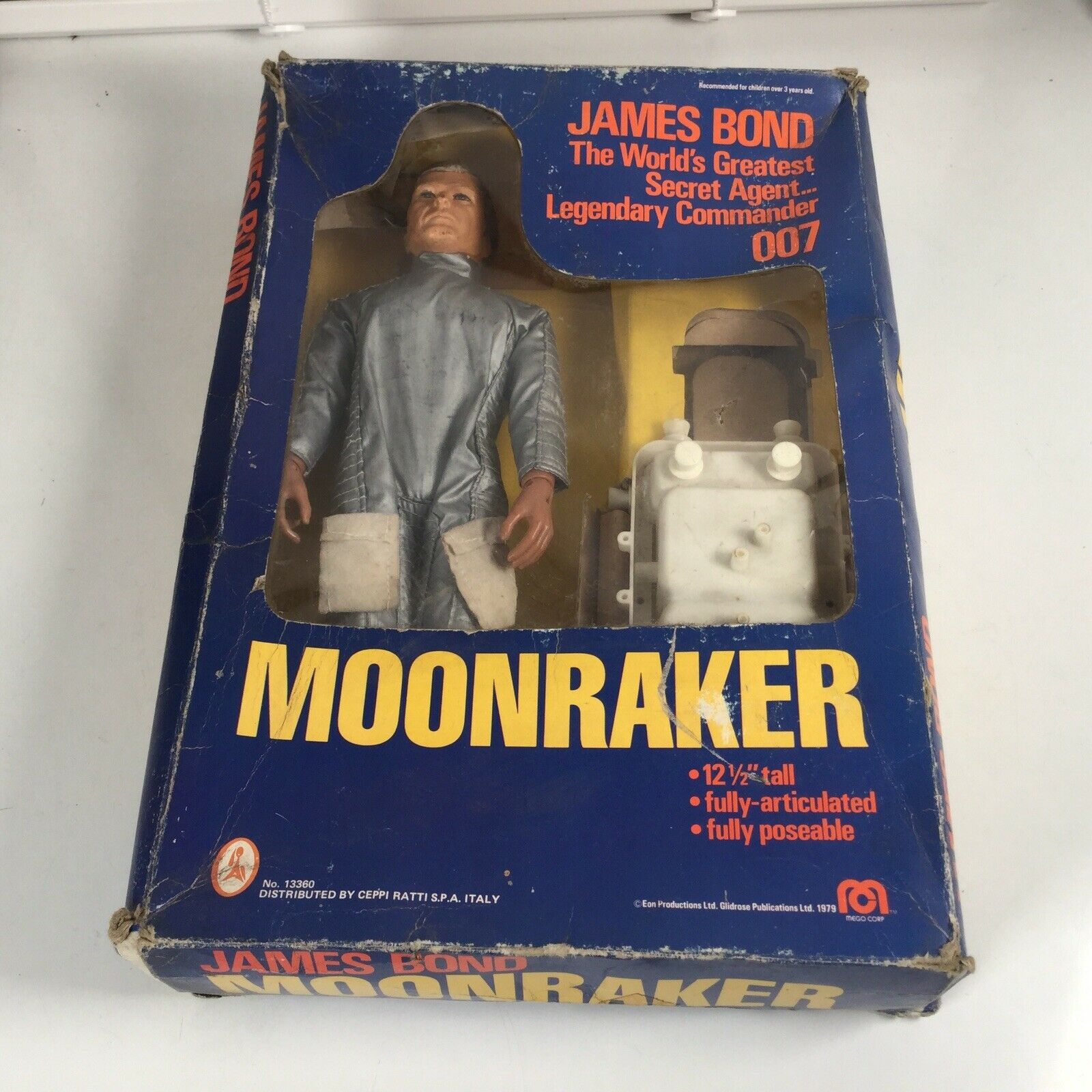 Mego Corp James Bond Bond Bond 007 Moonraker Action Figure Boxed Nice Condition db0944