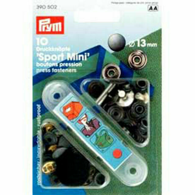 Prym 10 Stitch-free-press buttons Sport Camping 15 mm burnished 390200