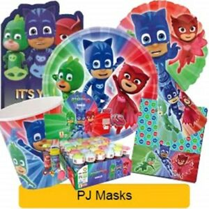 PJ-MASKS-Birthday-Party-Range-NEW-Tableware-Balloons-amp-Decorations-GEMMA