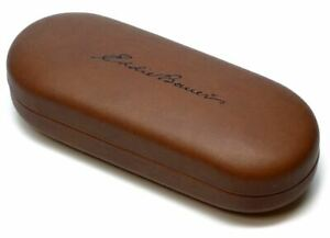 Eddie Bauer Eyewear Hard Eyeglass/Sunglass Case New Clam Shell Brown Syn.Leather