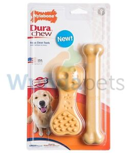 Nylabone Twin Pack Large Textured Giant Flavoured Nylon