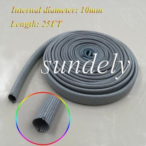 Secuda Brand New Gray Heat Protector Woven Spark Plug Wire Sleeve 25FT USA