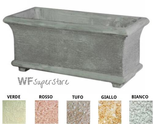 90x40 vaso cemento esterno Fioriera in pietra ricostruita per giardino cm