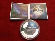 Fiji Meteorite Cosmic Fireballs Brenham $10 2012 Colored Proof Silver Coin w/COA