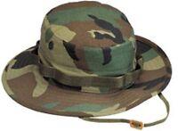 Rothco Military Gi Style Woodland Camoflage Boonie Hat Fishing Hunting 5800