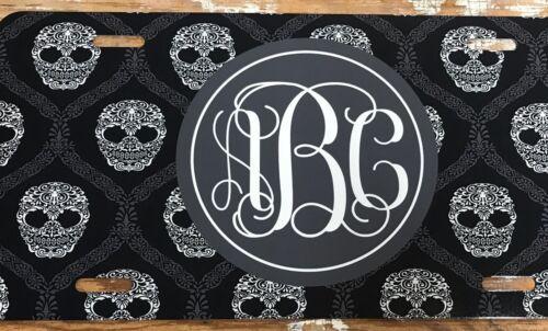 Monogram License Plate Skulls Personalized Car Tag New