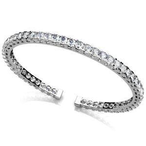 Diamant-Brillant-Armspange-Armreif-2-25-Ct-585-14K-Weissgold-Gelbgold-Rosegold
