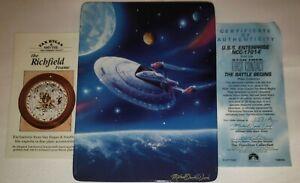 Star Trek U.S.S Enterprise NCC-1701-E The Battle Begins Collection Plate 1998