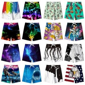 e78157b722 Surf Boys' Kids Quick Dry Beach Swim Trunk 3D Print Summer Swimwear ...