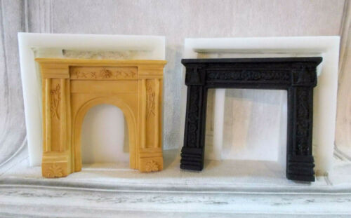 DOLLS HOUSE TWO ORNATE STYLE FIRE PLACES SILICONE RUBBER MOLDS